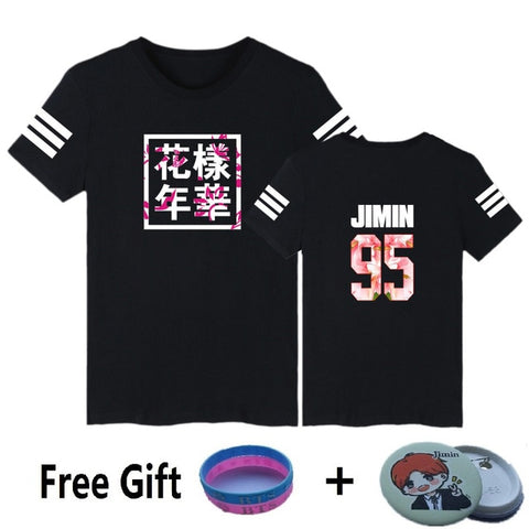 Black BTS Casual T-Shirts [All Members] - btsmerchstore.com