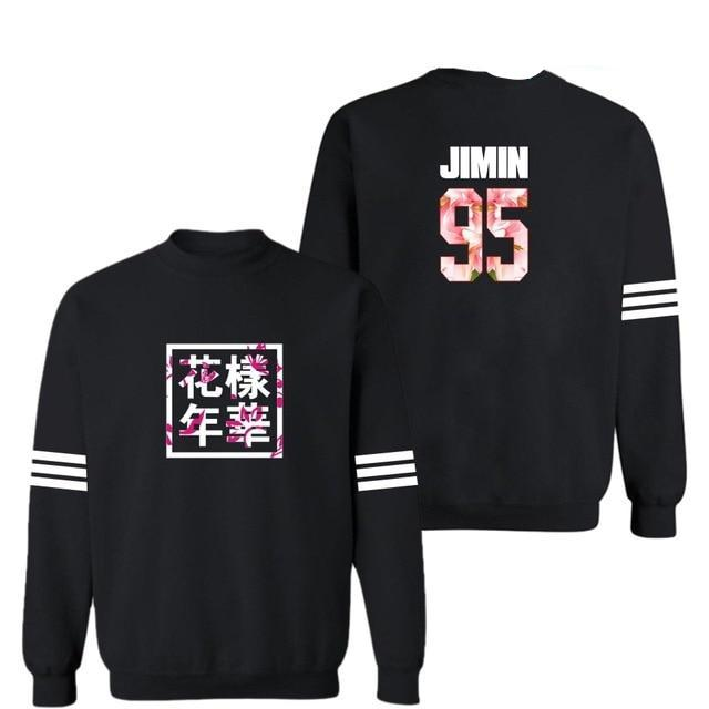 Black BTS Sweatshirt [All Member Names] - btsmerchstore.com