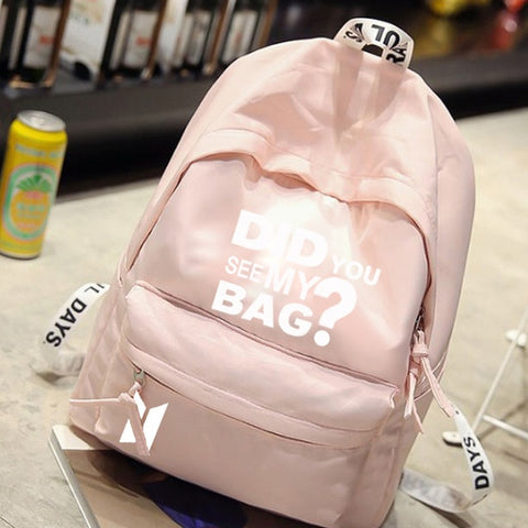 "BTS ""Did You See My Bag"" Backpack - btsmerchstore.com"