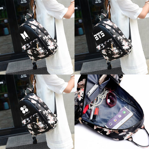 BTS Flower Backpack [3 Styles] - btsmerchstore.com