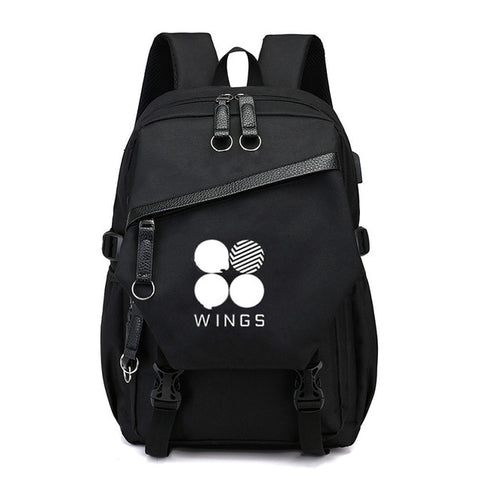 BTS Backpack with USB Connector - btsmerchstore.com