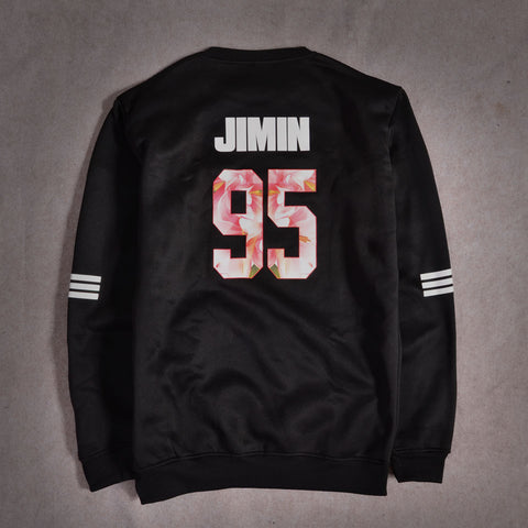 Image of Black BTS Sweatshirt [All Member Names] - btsmerchstore.com