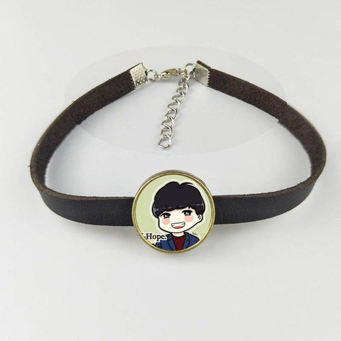 Adjustable Leather BTS Bracelet [All Members] - btsmerchstore.com