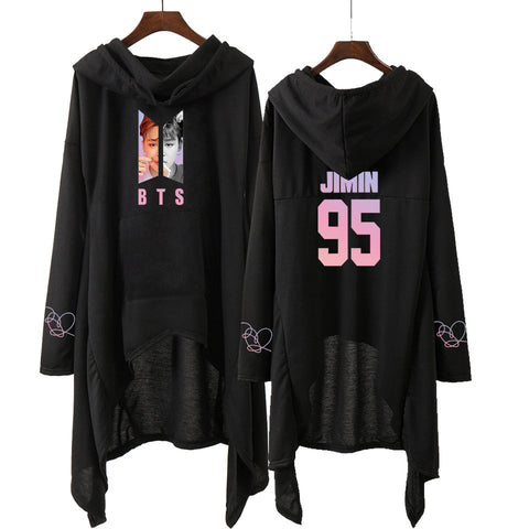 Image of BTS Hooded Dress Style Sweatshirt - btsmerchstore.com