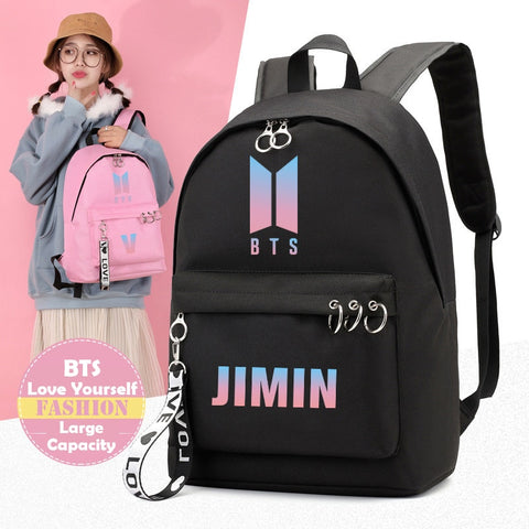 Image of BTS Korean Style Backpack [All Member Bags] - btsmerchstore.com