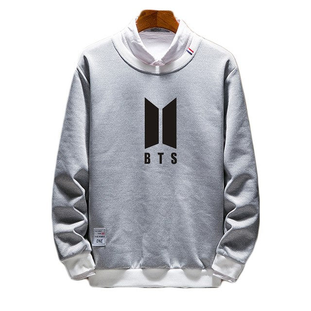 BTS Pullover Fake Two Pieces Sweatshirt - btsmerchstore.com