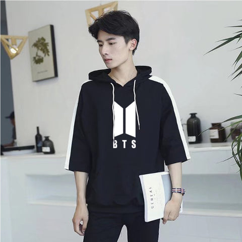Image of BTS Patchwork Hooded T-shirt - btsmerchstore.com