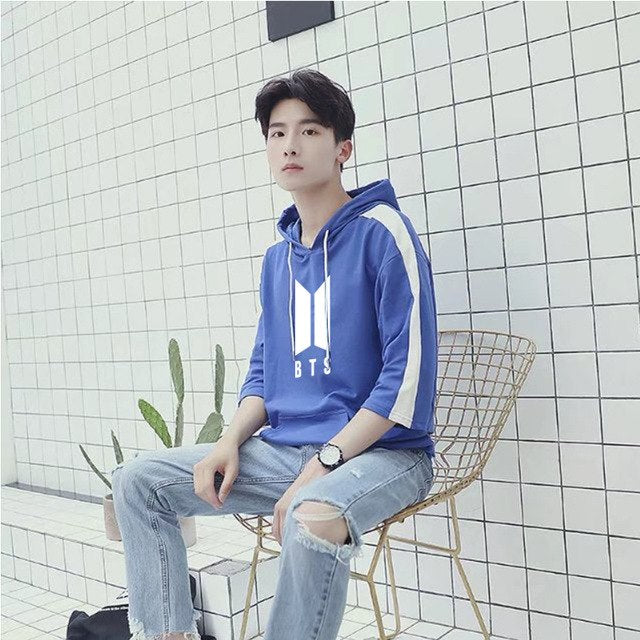 BTS Patchwork Hooded T-shirt - btsmerchstore.com