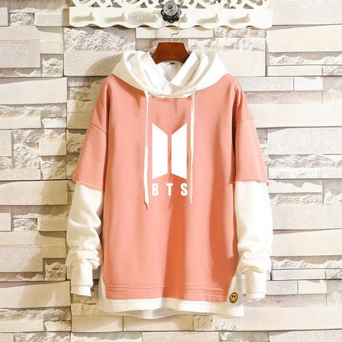 Image of BTS Fake Two Pieces Hoodie - btsmerchstore.com