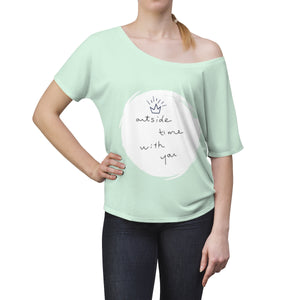 Women's Slouchy top Outside time.