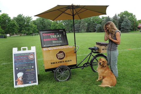 Smart Cookie Food Truck for Dogs Treat Tricycle