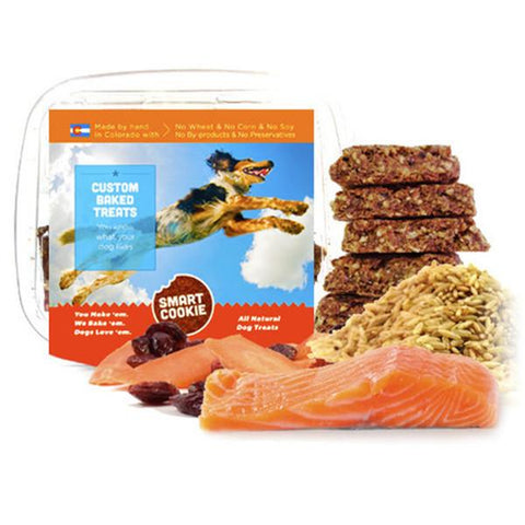 Salmon + Brown Rice + Cranberry & Carrot Treats for Dogs