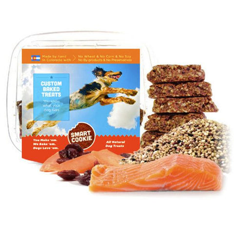 Salmon + Quinoa + Cranberry & Carrot Treats for Dogs