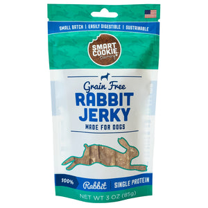 Smart Cookie Rabbit Jerky Strips Front