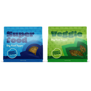 Smart Cookie Veggie and Superfood Dog Food Topper 2 Bag Variety Pack Front