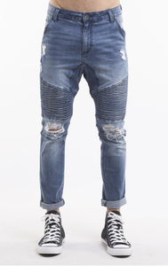 SILENT THEORY - OUTLAW PANT, Motley blue