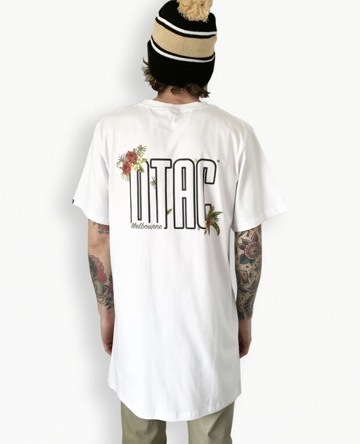 DTAC - White Floral Tee (Tall Fit)