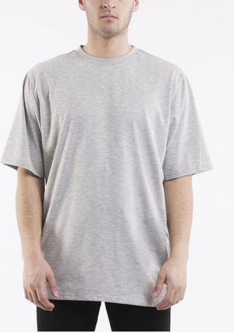SILENT THEORY - RELAXED TEE, Grey marle