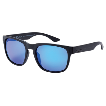 Spartan - Matt raven // Blue flash polarised