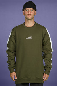 FYVE - Simple Olive White - Cotton Crew Neck