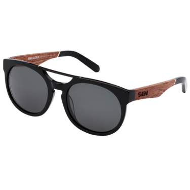 Swagger - Matt raven wood // Smoke polarised