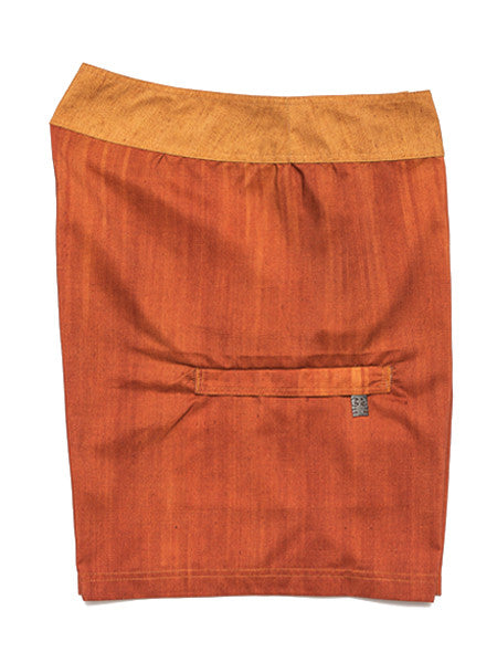 Orange with Gold Waist Trunk