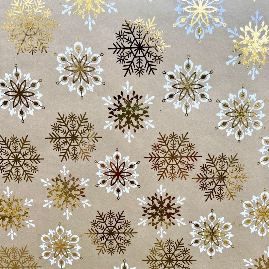 Foil and White Snowflake