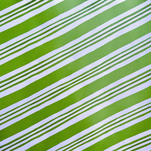 Green Diagonal Stripe