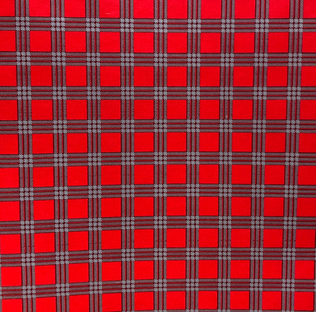 Small Red/Grey Plaid