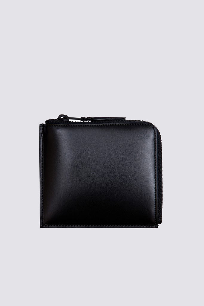 Leather Half Zip Wallet - Very Black - SA3100VB