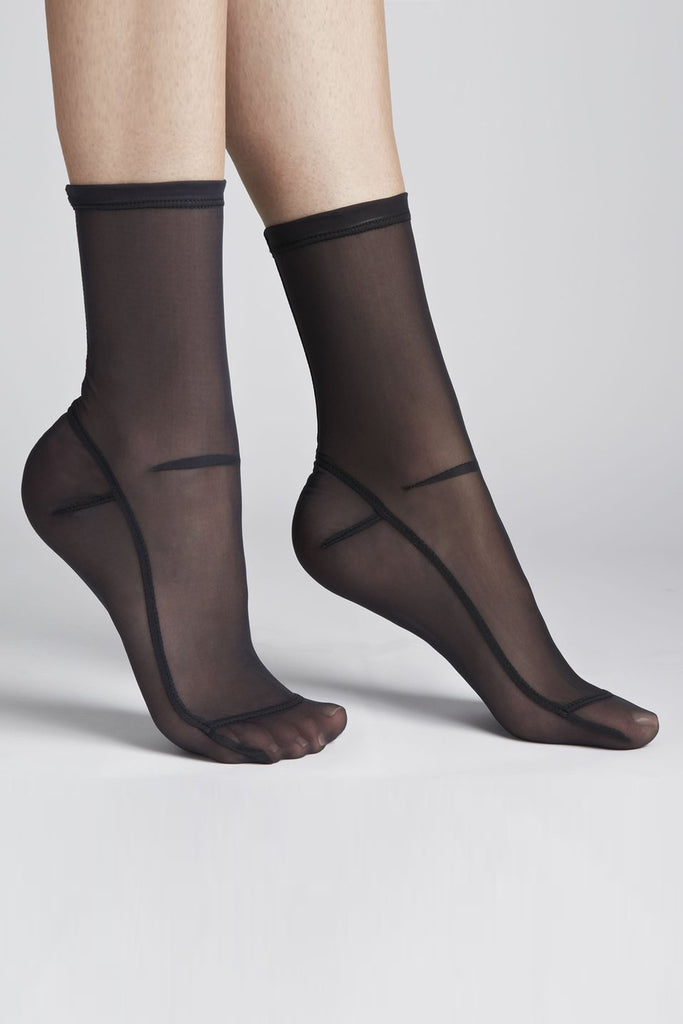Solid Mesh Sock - Black