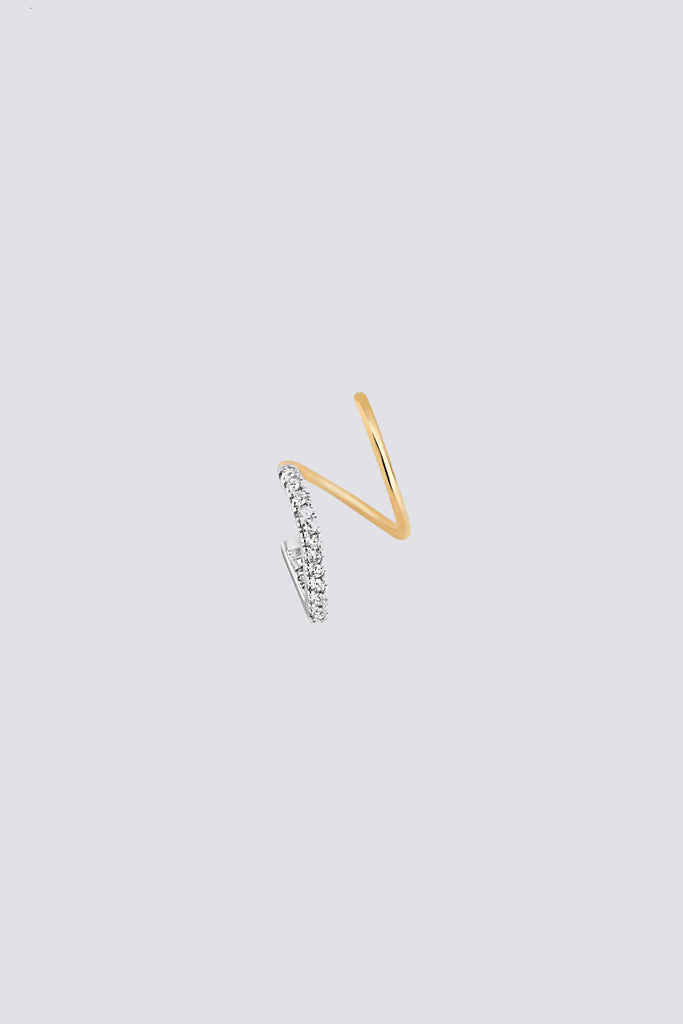 Bella Diamond Twirl Earring - Left