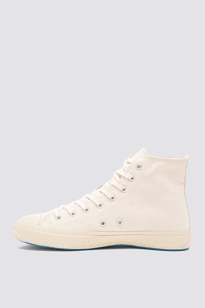 High Top Canvas Sneaker - Natural