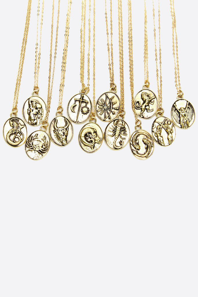 necklace products gold claire kinder moonstone taurus br front
