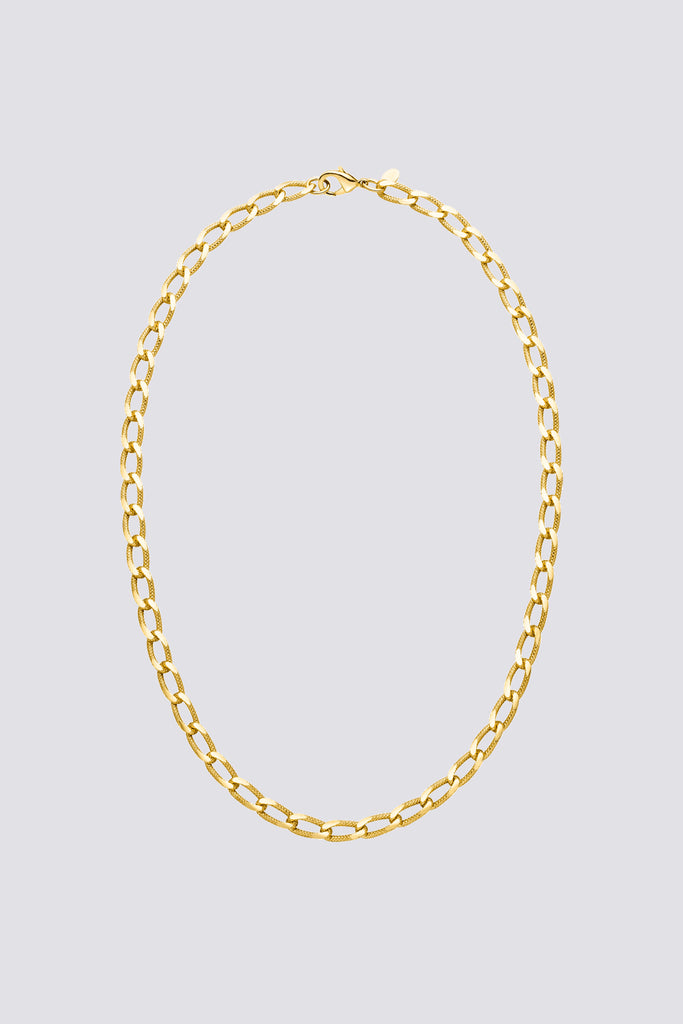 Gold Vintage Curb Necklace