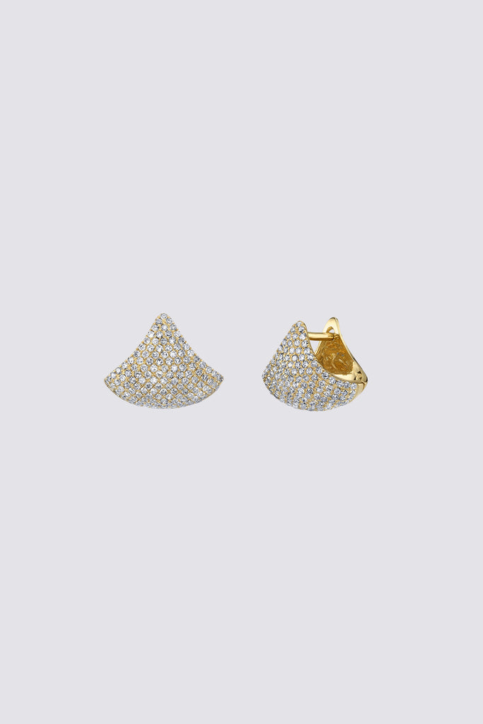 Pave Small Apse Earrings