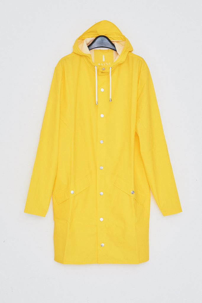 Hooded Rain Long Jacket - Yellow