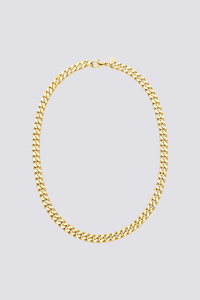 Gold Big Curb Necklace