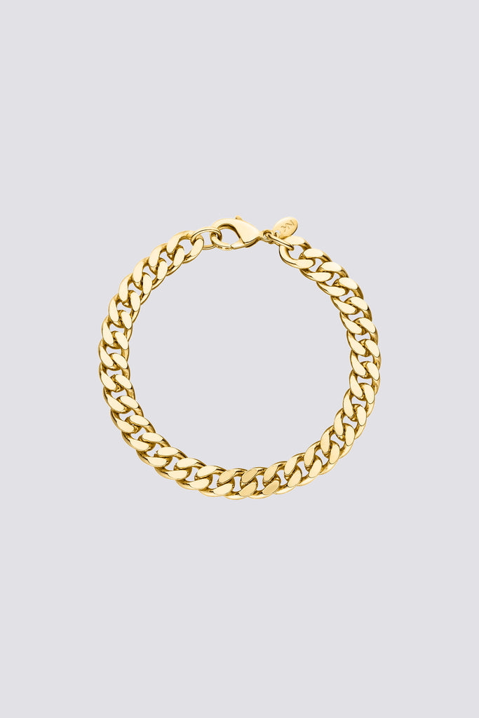 Gold Big Curb Bracelet