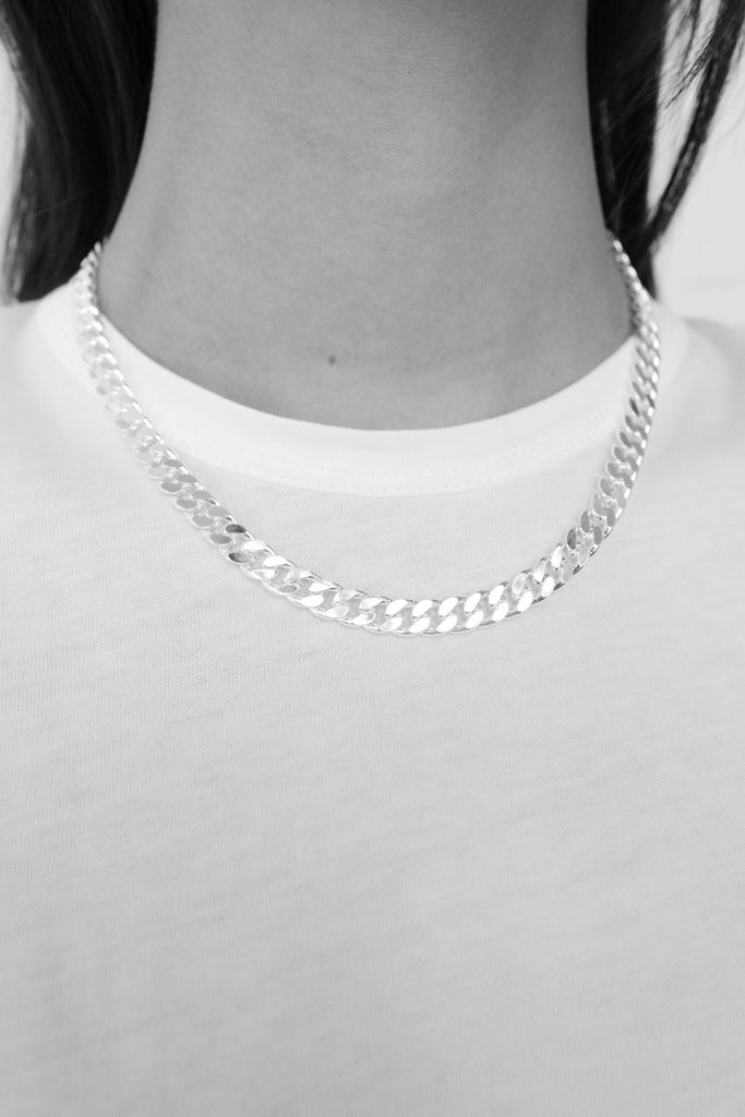 Silver Big Curb Necklace