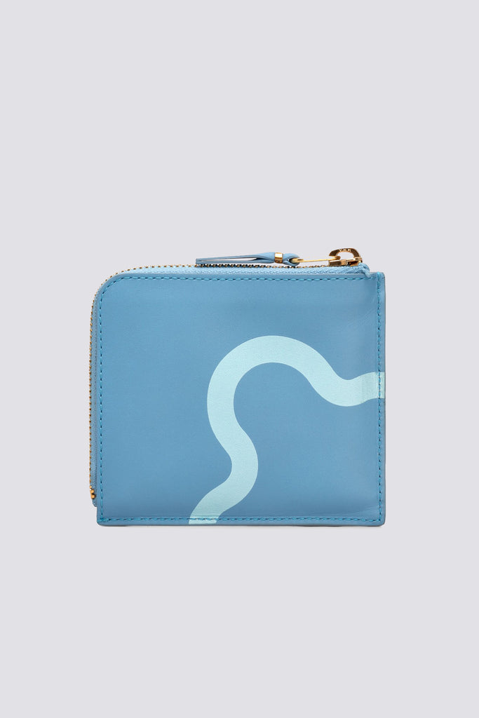 Leather Ruby Eyes Wallet - Blue - SA3100RE
