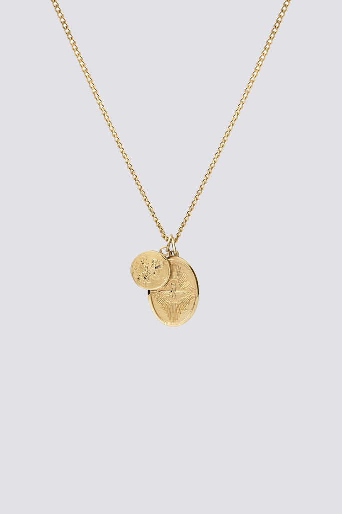 Gold Vermeil Mini Dove Pendant