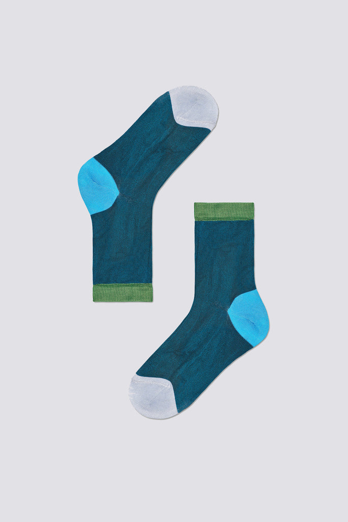 Grace Ankle Sock - Turquoise