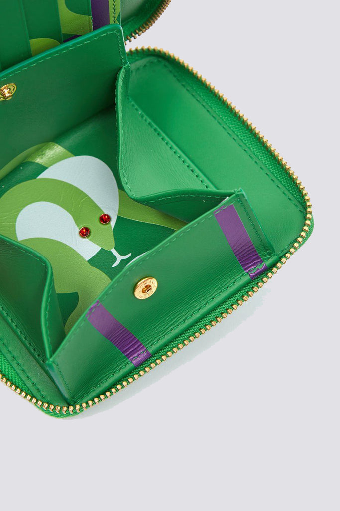 Leather Ruby Eyes Wallet - Green - SA2100RE