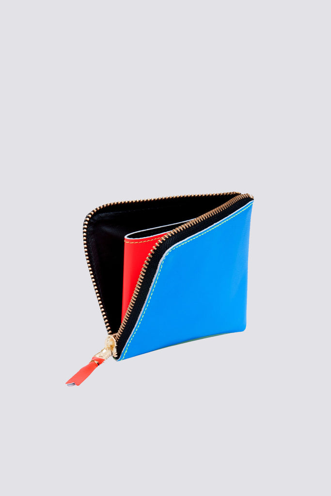 Super Fluo Half Zip Wallet - Blue/Green SA-3100SF