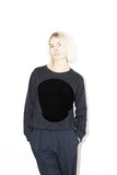 Cotton Velvet Circle Sweatshirt
