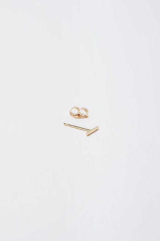 14K Gold Staple Stud