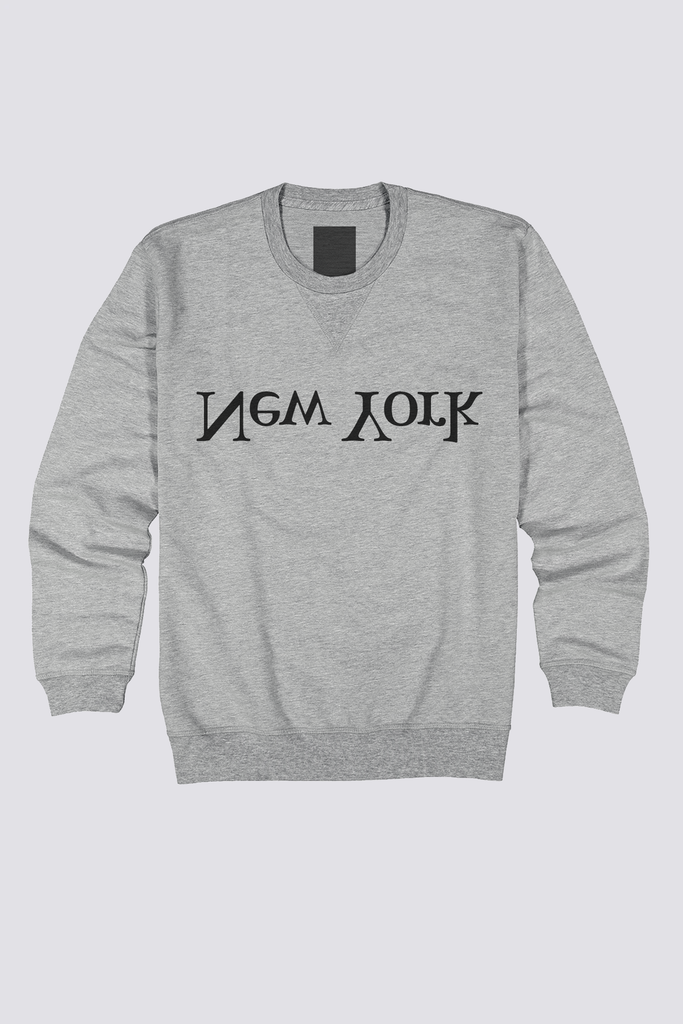 Grey New York Logo Sweatshirt