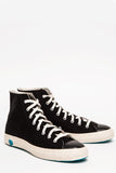 High Top Canvas Sneaker - Black