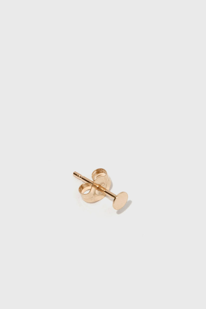 14K Gold Sequin Stud - 4mm